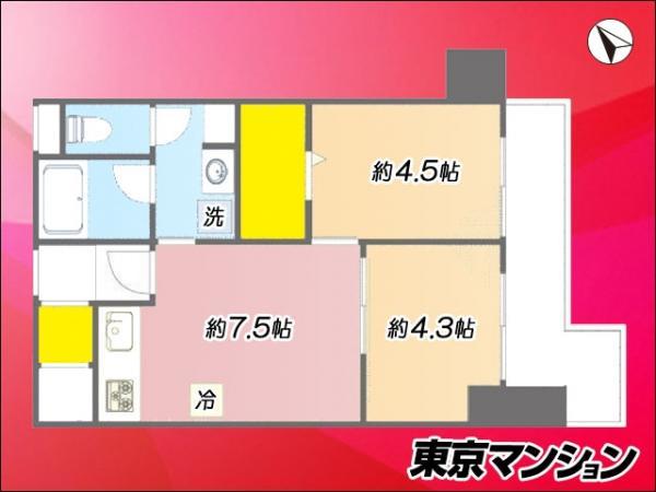 中古マンション 品川区西五反田8丁目8-14 JR山手線五反田駅 2850万円