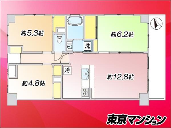 中古マンション 墨田区立花1丁目3-6 東武亀戸線亀戸駅  3180万円