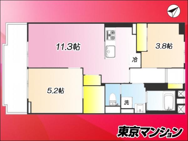 中古マンション 北区赤羽台4丁目17-18 JR埼京線北赤羽駅 2390万円