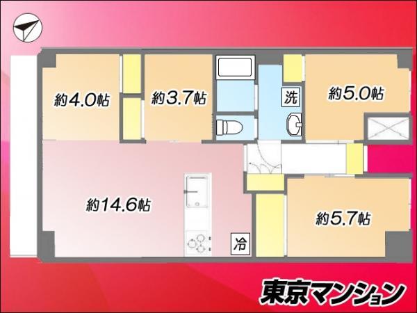 中古マンション 中央区晴海2丁目5-16 都営大江戸線勝どき駅 4980万円