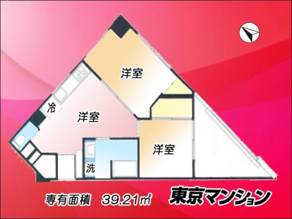 中古マンション 台東区浅草2丁目27-15 銀座線浅草駅 2480万円