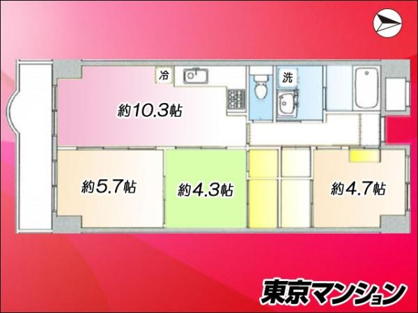 中古マンション 板橋区熊野町45-2 東武東上線大山駅 2980万円