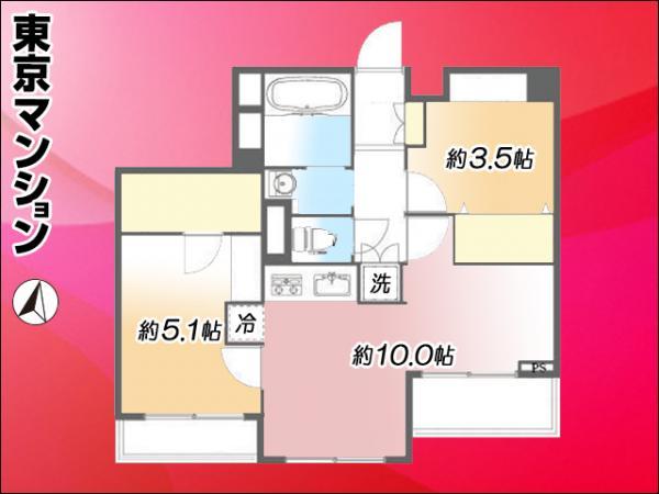 中古マンション 板橋区相生町 都営三田線志村三丁目駅 2099万円
