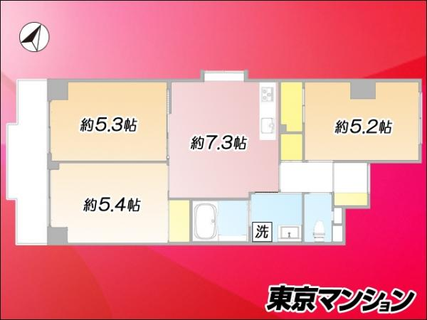 中古マンション 北区東十条3丁目18-1 JR京浜東北線東十条駅  3280万円