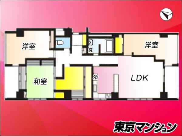 中古マンション 目黒区下目黒4丁目1-17 JR山手線目黒駅 7180万円