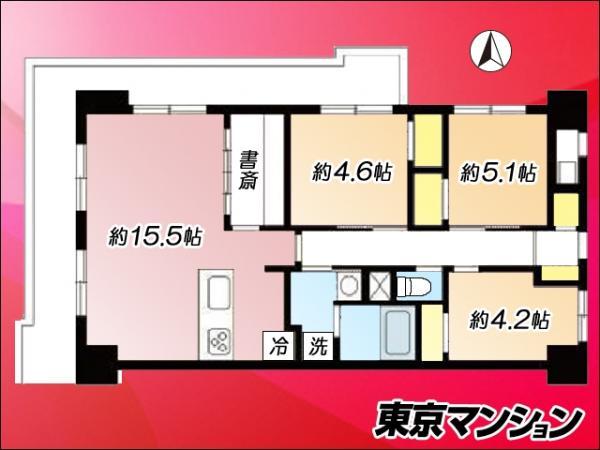 中古マンション 江東区亀戸1丁目19-6 JR中央・総武線亀戸駅  4080万円