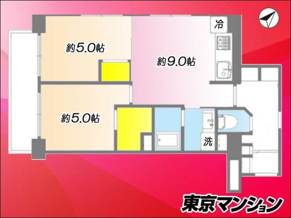 中古マンション 中央区勝どき2丁目4-9 都営大江戸線勝どき駅 3490万円