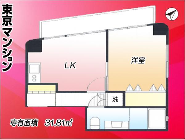 中古マンション 中野区中央1丁目43-15 丸の内線中野坂上駅 2480万円