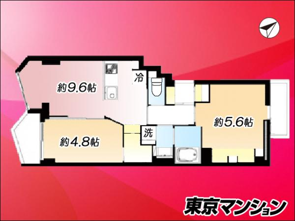 中古マンション 世田谷区赤堤1丁目43-14 小田急線経堂駅 3199万円