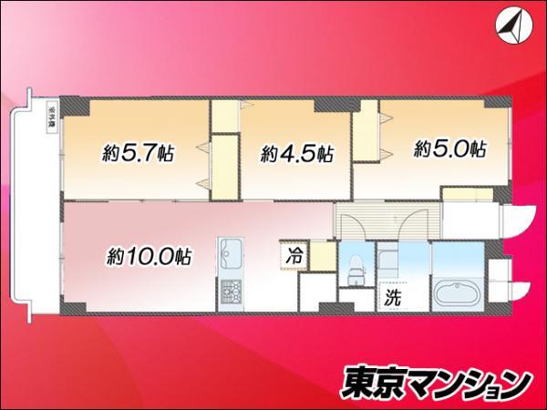 中古マンション 板橋区成増3丁目51-5 東武東上線成増駅 2380万円