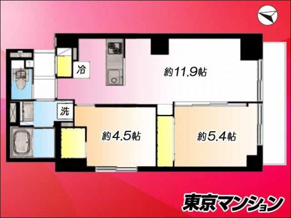 中古マンション 杉並区上荻4丁目6-7 JR中央線西荻窪駅 2799万円