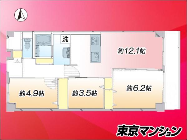 中古マンション 江東区東砂2丁目15-8 都営新宿線東大島駅 3380万円