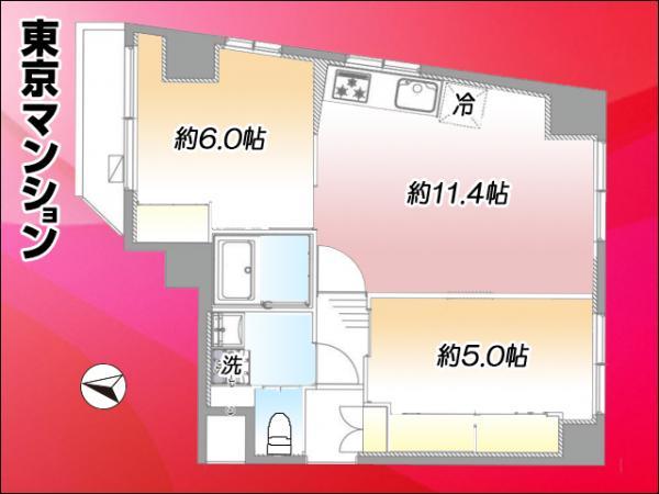 中古マンション 足立区千住4丁目9-7 JR常磐線(上野〜取手)北千住駅 2699万円