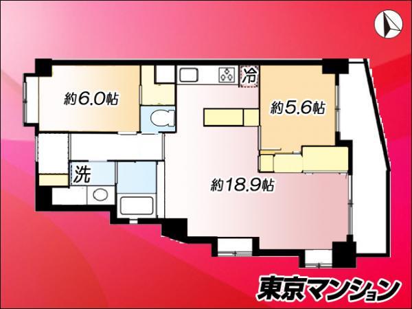 中古マンション 目黒区青葉台4丁目2-10 京王井の頭線神泉駅 6980万円
