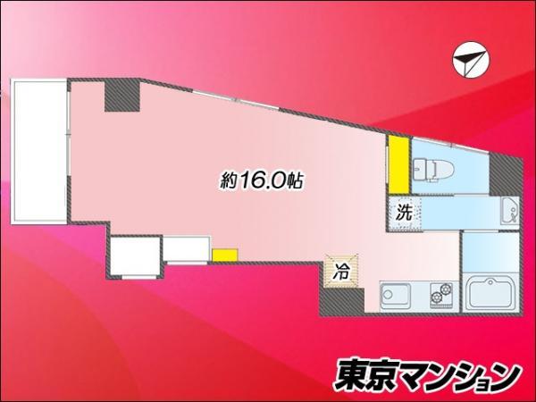 中古マンション 新宿区歌舞伎町2丁目8-3 JR山手線新宿駅 2480万円