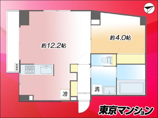 中古マンション 新宿区須賀町12-9 JR中央・総武線信濃町駅 1980万円