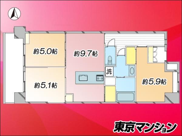 中古マンション 墨田区横川5丁目10-2 都営浅草線押上駅 4880万円