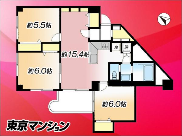 中古マンション 練馬区関町南4丁目15-1 西武新宿線武蔵関駅 2698万円