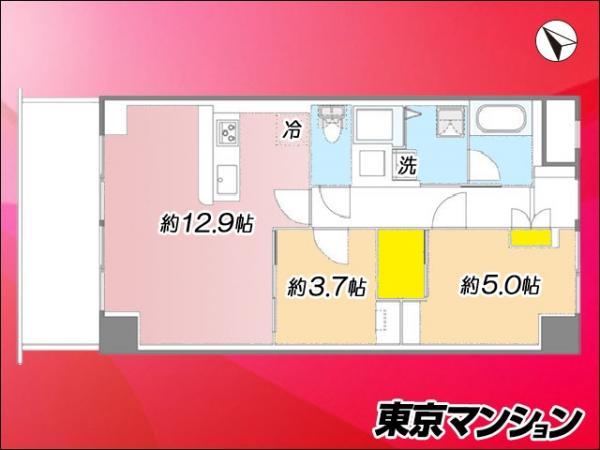 中古マンション 大田区大森北1丁目12-1 JR京浜東北線大森駅 3649万円