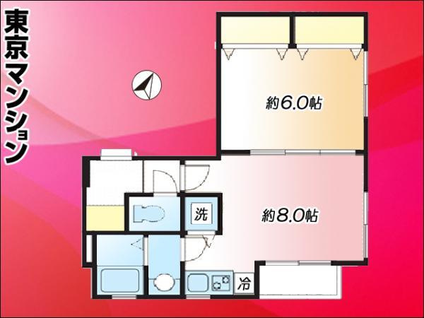 中古マンション 大田区西蒲田7丁目 東急池上線蓮沼駅 1780万円