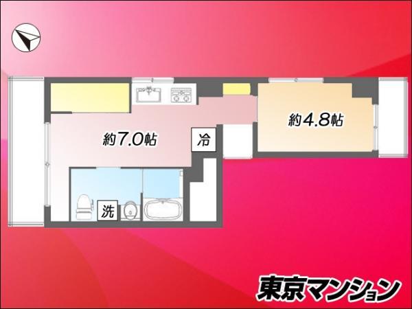中古マンション 板橋区本町13-3 都営三田線板橋本町駅 1990万円