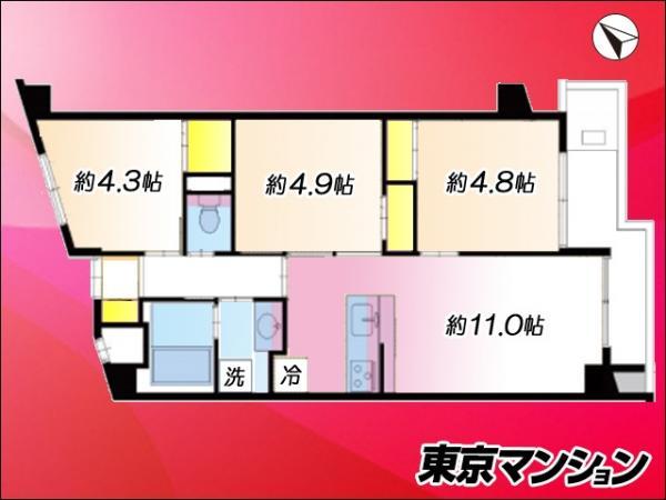 中古マンション 文京区水道1丁目11-7 JR中央・総武線飯田橋駅 4490万円