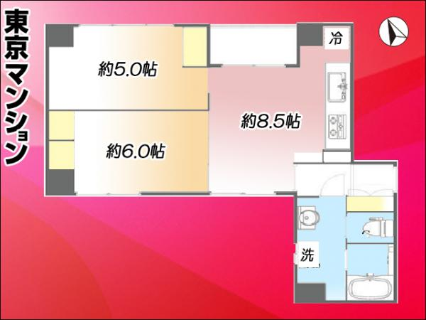 中古マンション 台東区蔵前3丁目19-7 都営大江戸線蔵前駅 3499万円