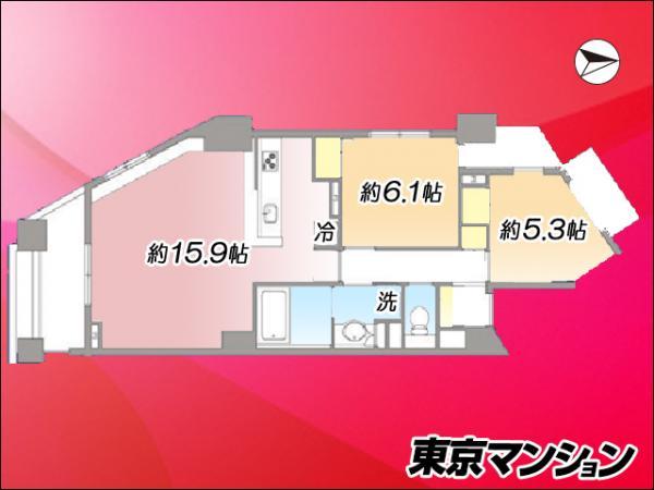 中古マンション 新宿区下落合2丁目5-4 JR山手線高田馬場駅 6980万円