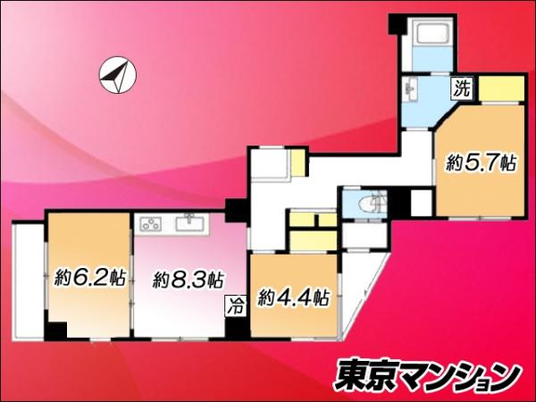 中古マンション 墨田区京島1丁目25-4 京成押上線京成曳舟駅 3900万円