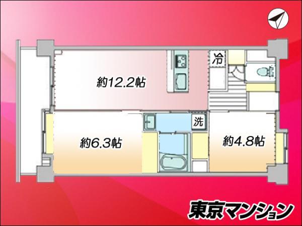 中古マンション 台東区千束4丁目29-5 日比谷線三ノ輪駅 3680万円