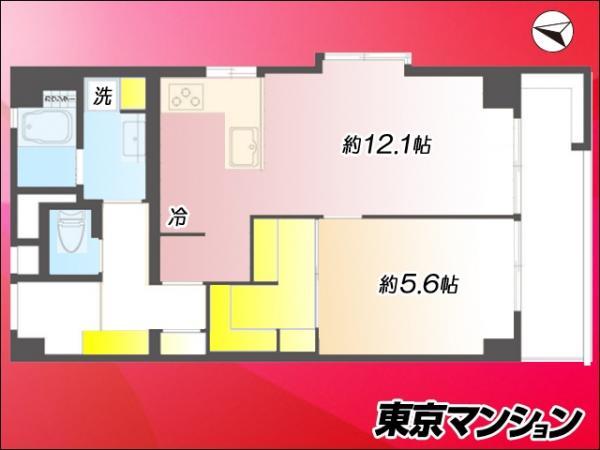 中古マンション 世田谷区松原2丁目34‐12 京王線明大前駅 2880万円