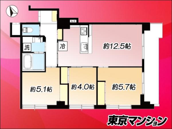 中古マンション 板橋区熊野町6-7 東武東上線下板橋駅 3290万円