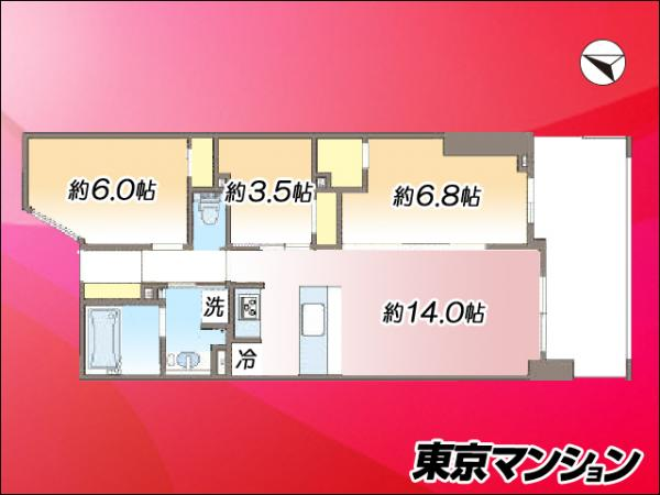 中古マンション 墨田区八広6丁目3-3 京成押上線八広駅 3680万円