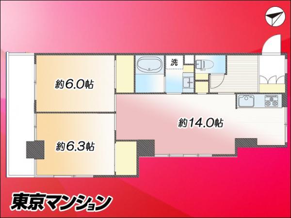 中古マンション 荒川区東日暮里4丁目 JR山手線鶯谷駅 2880万円