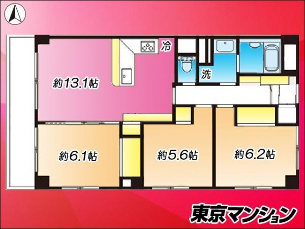 中古マンション 荒川区西尾久7丁目12-10 JR高崎線尾久駅 3490万円