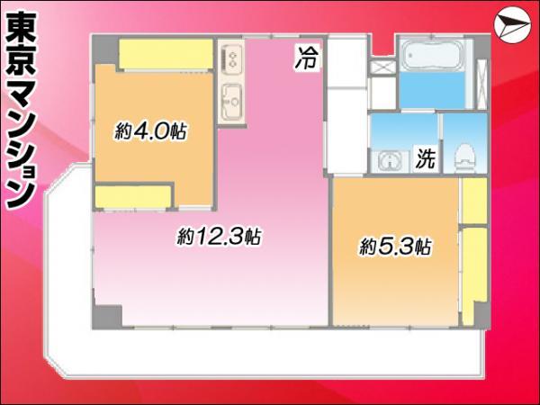 中古マンション 練馬区関町南4丁目20-13 西武新宿線東伏見駅 2280万円
