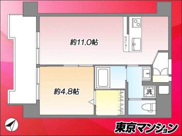 中古マンション 大田区東馬込1丁目 都営浅草線馬込駅 1990万円