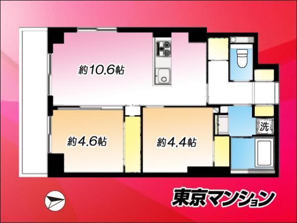 中古マンション 板橋区桜川3丁目24-10 東武東上線上板橋駅 2599万円