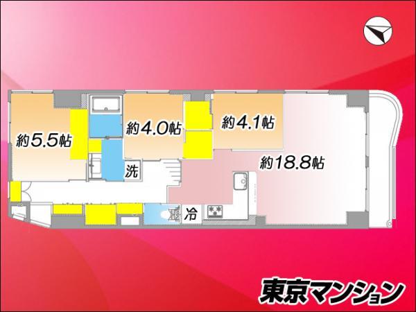 中古マンション 板橋区東坂下2丁目17-11 都営三田線蓮根駅 3299万円
