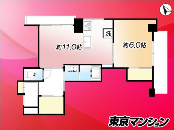 中古マンション 目黒区三田2丁目9-3 JR山手線目黒駅 2499万円