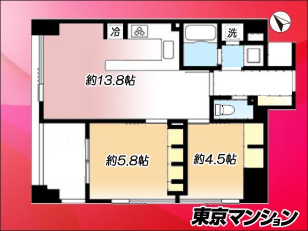 中古マンション 中央区佃3丁目4-12 都営大江戸線月島駅 6100万円