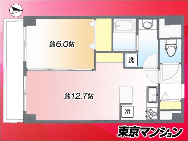 中古マンション 渋谷区幡ヶ谷2丁目35-1 京王線笹塚駅 3780万円