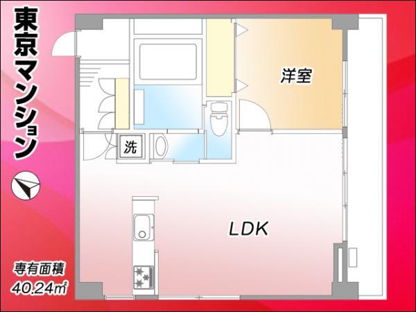 中古マンション 渋谷区本町1丁目 京王線初台駅 3299万円
