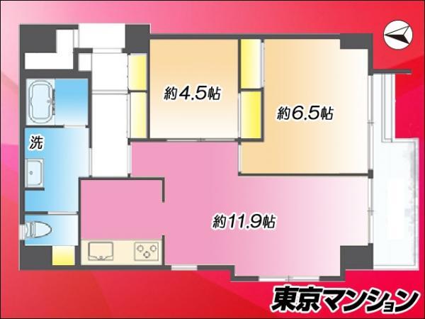 中古マンション 世田谷区代沢4丁目45-4 京王井の頭線下北沢駅 4580万円