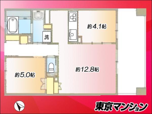 中古マンション 中央区晴海5丁目1-9 都営大江戸線勝どき駅 4500万円