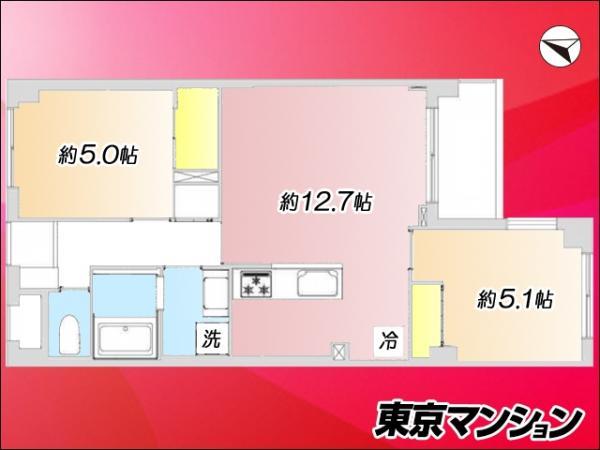 中古マンション 墨田区向島5丁目15-10 東武亀戸線曳舟駅 2280万円