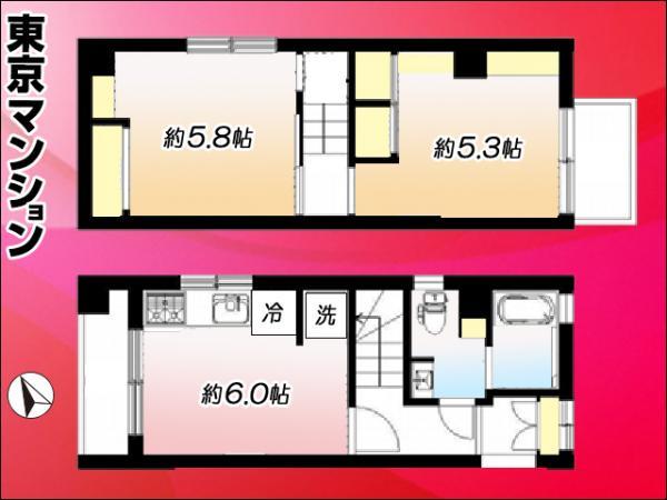 中古マンション 大田区仲六郷2丁目41-13 京急本線雑色駅 2080万円