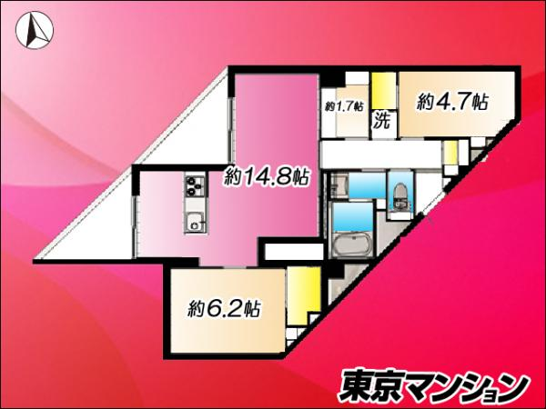中古マンション 練馬区貫井4丁目2-31 西武池袋線富士見台駅 2999万円