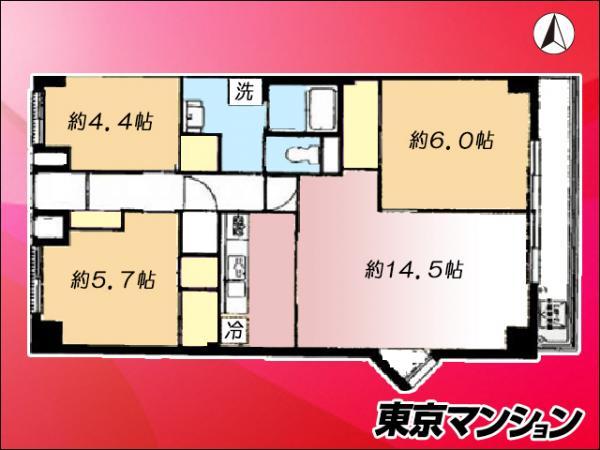中古マンション 江東区亀戸3丁目38-16 半蔵門線押上駅 2980万円