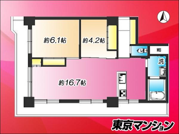 中古マンション 江東区亀戸6丁目 JR中央・総武線亀戸駅 3499万円